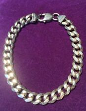 *NEW* 925 * STERLING SILVER SOLID FLAT CURB BRACELET 8.5 Inch