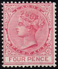 Lagos 1882 4d. carmine, MH (SG#20)