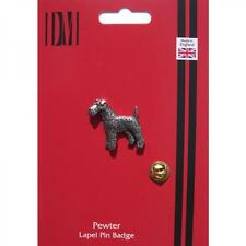 TERRIER DOG Lapel Pin Badge WELSH IRISH AIREDALE OWNER CLUB Present GIFT BOX