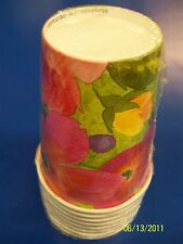 Bright Blooms Floral Flower Party 9 oz. Paper Cups