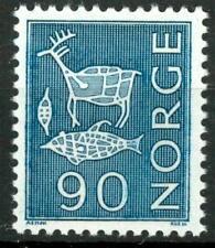 NORWAY - NORVEGIA - 1963 - Serie ordinaria - 90 (Ø) azzurro