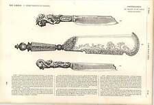 1862 Huntsman's Cleaver RICHE DECOR AMOUR Noeuds Italien couteaux de table Alberti Art