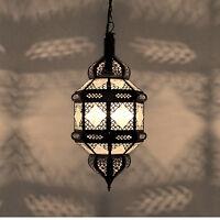 Lanterne Orientale Lampe Arabe Marocaine Lampe Suspendue Titia Verre Dépoli