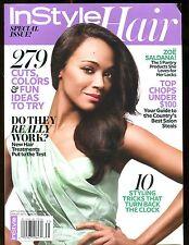 In Style Hair Magazine September 2013 Zoe Saldana EX No ML 122216jhe