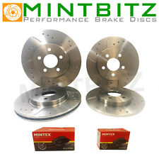 Corsa D 1.6 VXR 11-15 Drilled Grooved Front & Rear Brake Discs + Pads