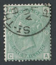 GB Used in DANISH WEST INDIES Z30 1/- Green Pl9, CA, Part St Thomas CDS