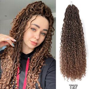 "18/22/26"" Ombre Goddess Faux Locs Crochet Braids River Locs Twist Hair Extension"