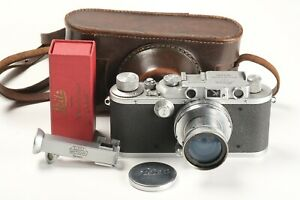 Leitz Leica III Nr. 342257, Summar 2/5cm Nr. 207002, 1x Deckel, Winkelsucher