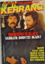 KERRANG! Magazine # 115 TONY IOMMI and GLENN HIGHES of BLACK SABBATH, cover