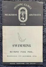 Melbourne Olympics Swimming Programme 5 December 1956, free EXPRESS AU