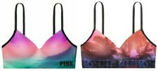 VICTORIAS SECRET PINK LOGO COOL & COMFY WIRELESS BRA TIE-DYE XS S M L NWT