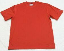 REI Tee T-Shirt Orange Polyester Spandex Crewneck Size Large Top Men's Man's