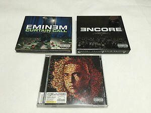 EMINEM Japan Edition 3 Hiphop CD Sets include Limited Edition w/DVD