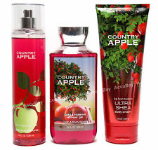 3pc Set - COUNTRY APPLE Fine Fragrance Mist Cream Shower Gel Bath and Body Works