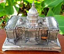 Jennings Brothers (JB) Silver Plated Repousse Desk Box of Capitol Washington, DC