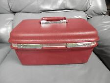Vintage Ladies ASPEN SAMSONITE Train Case Cosmetic Bag Escort BURGUNDY