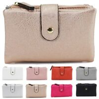Ladies Women's Medium Purse Bifold Double Zipped Compartments Wallet Purses UK