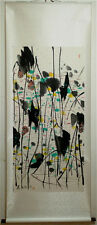 "Excellent Chinese 100% Hand Painting & Scroll ""Lotus"" By Wu Guanzhong 吴冠中 WEDF"
