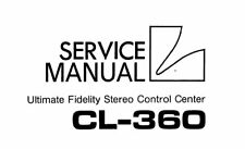 LUXMAN CL-360 STEREO CONTROL CENTER SERVICE MANUAL INC SCHEM PRINTED ENGLISH