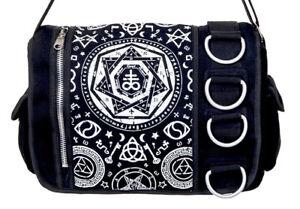Banned Pentagram Star Occult Power Messenger Bag Shoulder Gothic Punk Rock Emo