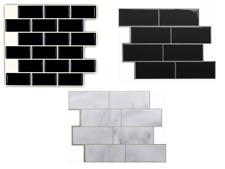 3D Self adhesive Wall tiles UK Mosaic Tile Peel & stick Black Grey White