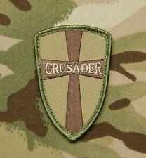 Multicam Crusader Cross Shield Navy SEAL DEVGRU Tactical Patch Afghan Hook