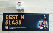 1 X Newcastle Brown Ale Rubber Backed Bar Runner Plus 100 Beer Mats