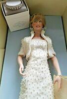 Franklin Mint Princess Diana Porcelain Doll New in Box