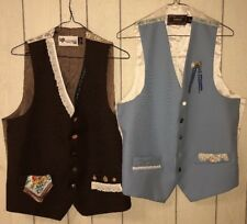 2- Customized Levi's Panatela Sportswear Vests Square Dancing? Theater?