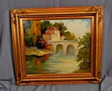DAY ON THE RIVER Limited Edition Framed Oil on Canvas by Eva Szorc  with COA