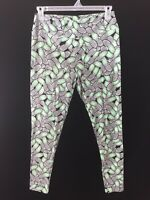Lularoe leggings size TC tall curvy green black flip cell phone print stretch