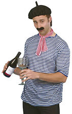 French Man Fancy Dress Costume Traditional Beret Parisian Outfit Smiffys 21305