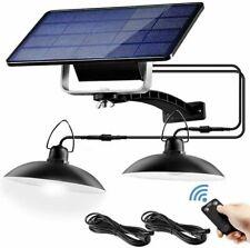 Solar Power Pendant Lights Garage Shop Lamp Indoor Outdoor Shed Barn Gazebo Yard