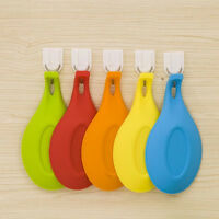 Silicone Spoon Rest Heat Resistant Kitchen Utensil Spatula Holder Cook new.