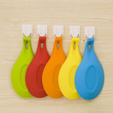 1x Silicone Spoon Rest Heat Resistant Kitchen Utensil Spatula Holder Cook Tool
