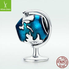 S925. Sterling Silver Mini Tellurion Bead Travel The World Charm For Urban Chain
