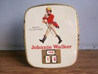 "Rare vintage ""JOHNNIE WALKER"" Whisky advertising tin Calendar made in England."