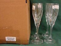 Spiegelau Crystal MONTEVERDI Champagne Flutes SET OF FOUR  MINT IN BOX