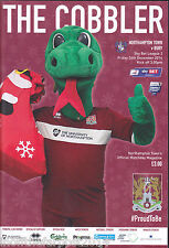 2014/15 NORTHAMPTON TOWN V BURY 26-12-2014 League 2 (Mint)