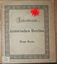 Jahrsbericht des Historischen Vereins im Rezat-Kreis für das Jahr 1830 Bayern...