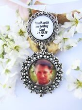 Photo Memory Bouquet Charm Bride Gift Wedding Personalised Walk With Me Dad