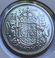 1957 Canadian 50 Cent Coin 80% Silver VF (AA122) Canada Currency