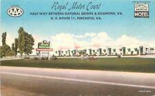 1940's FINCASTLE VIRGINIA Royal Motor Court Roadside MWM Linen postcard 3615