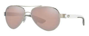 New Costa del Mar Loreto Sunglasses Palladium/Silver Copper Mirror 580P Aviator