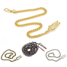 18K Gold Plated Silver Copper Golden Bronze 38cm Alloy Pocket Watch Jeans Chain