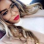 Aviator Oversized Eyeglasses Poshe Large Clear Lens Twirl Metal Women Fashion