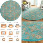 Heritage Turquoise/Multi 6 Ft. X 6 Ft. Round Floral Area Rug