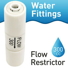 "1/4"" Flow Restrictor 300CC Check Valve Push In Fit for RO Water Filter Systems"