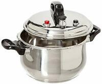 Stainless Steel Pressure Cooker With 6 Safety Features,5.3/7.4/9.5 Quarts,Silver