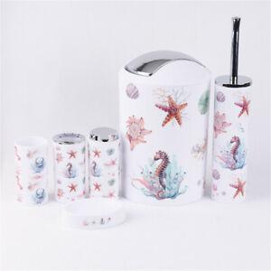6x Bathroom Liquid Dispenser Holder Soap Dish Toilet Brush Bath Accessories